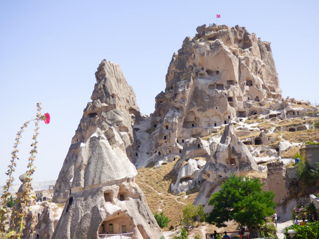 Uchisar Castle fortress in Turkey
