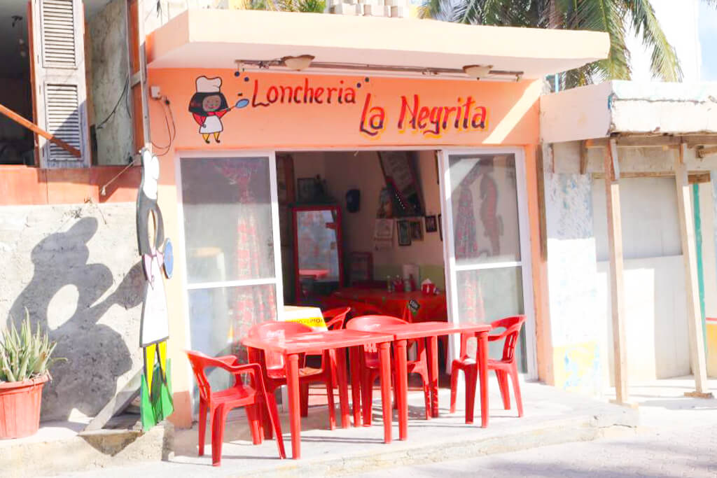 A colourful restaurant in downtown Isla Mujeres, Mexico
