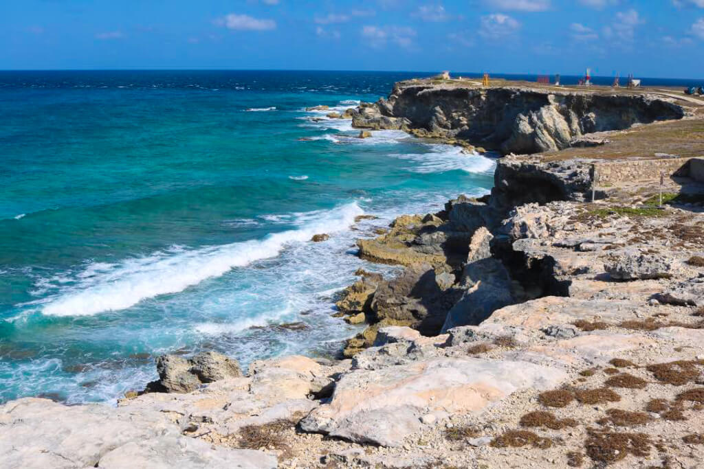 View of the Ocean from Punta Sur in Mexico