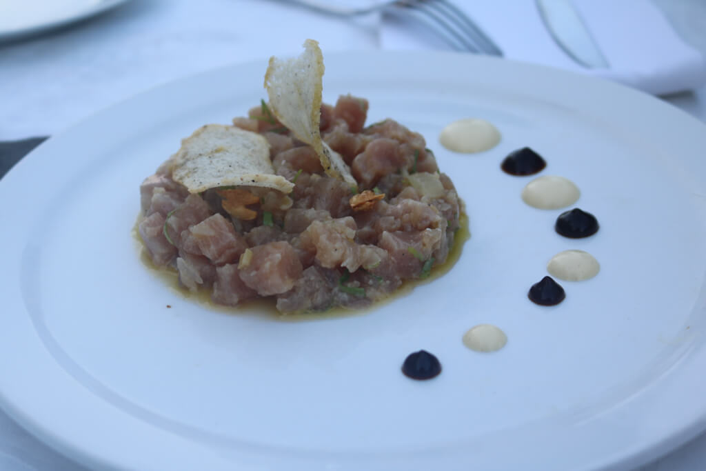 An appetizer at Paladar La Guarida in Havana