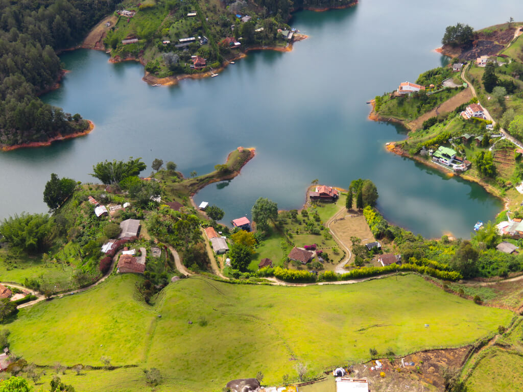 The amazing view from the top of El Penon de Guatape