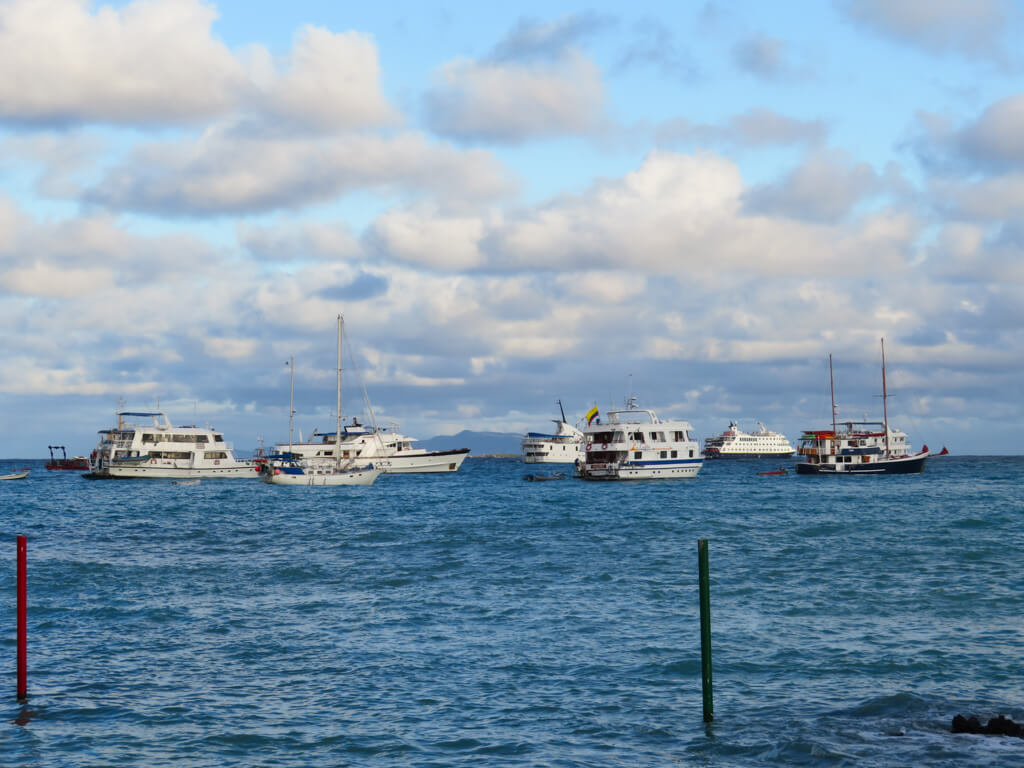 Cruise ships in the Galapagos
