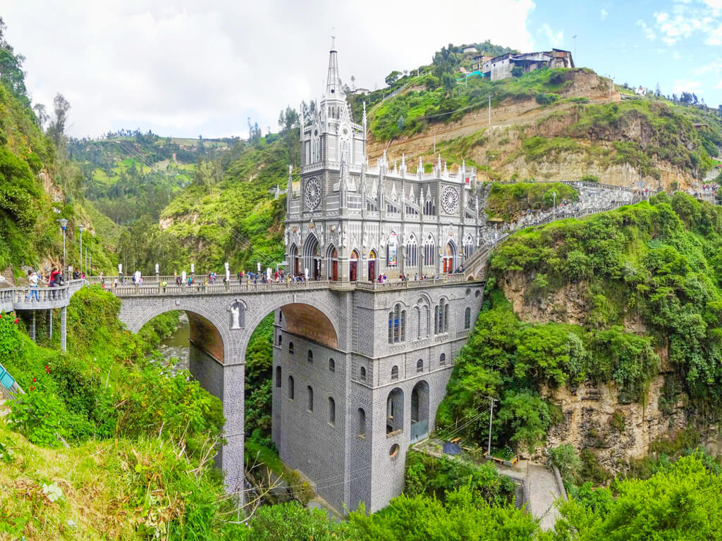 Las Lajas Sanctuary is in Ipiales, near the border of Colombia and Ecuador.
