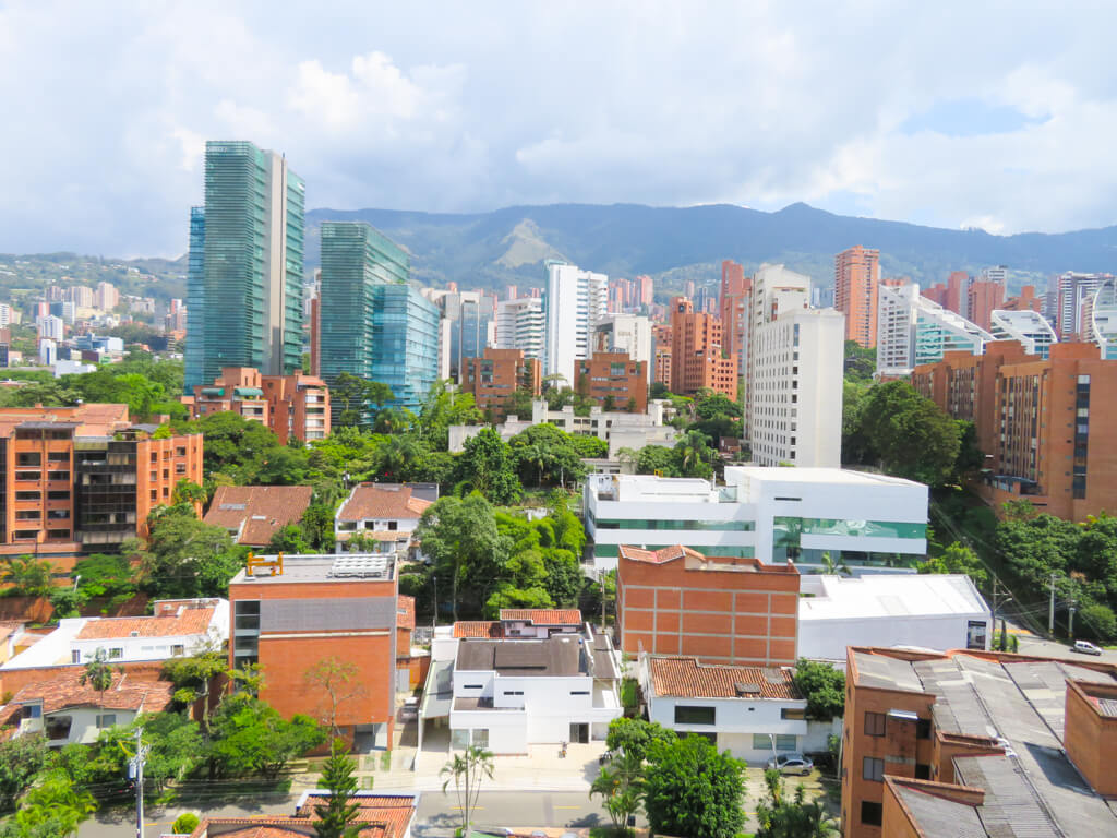 Tall buildings in Medellin's El Poblado district