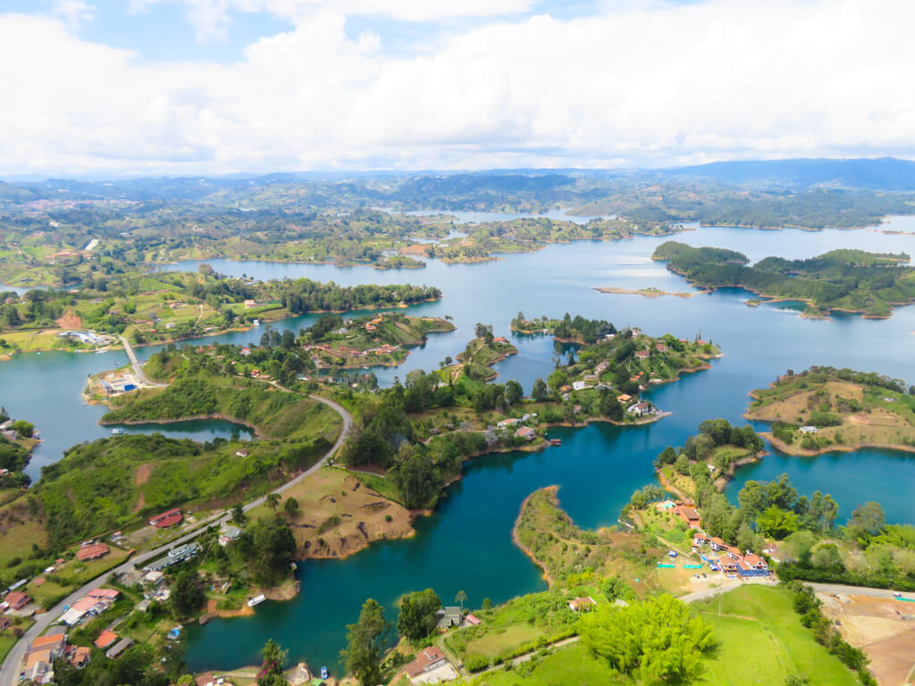 View from the top of the Rock of Guatape in Colombia