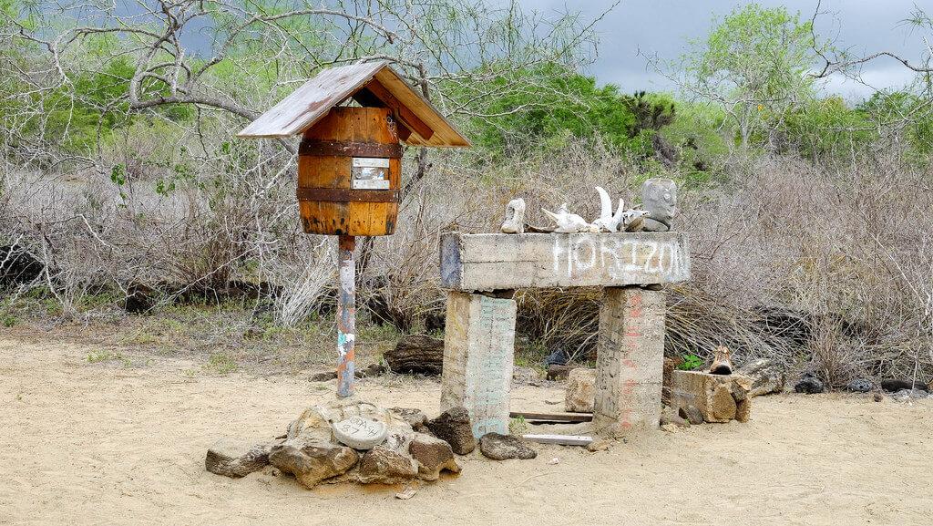 Post Office Bay on Floreana Island