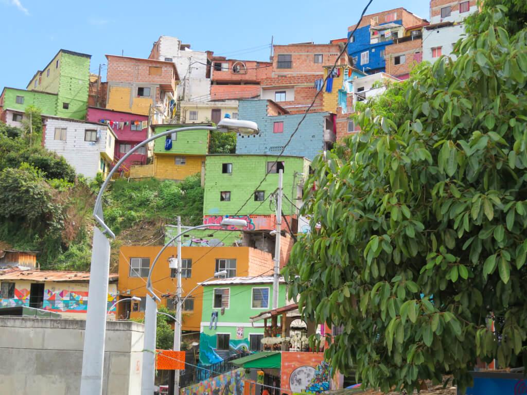 Colourful houses in Comuna 13, Medellin