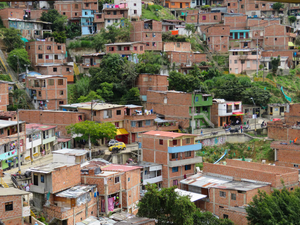 A lower-income area of Medellin as seen from the Metrocable