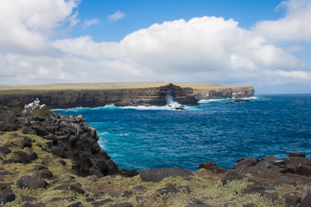 The scenic coast of Española Island in the Galapagos