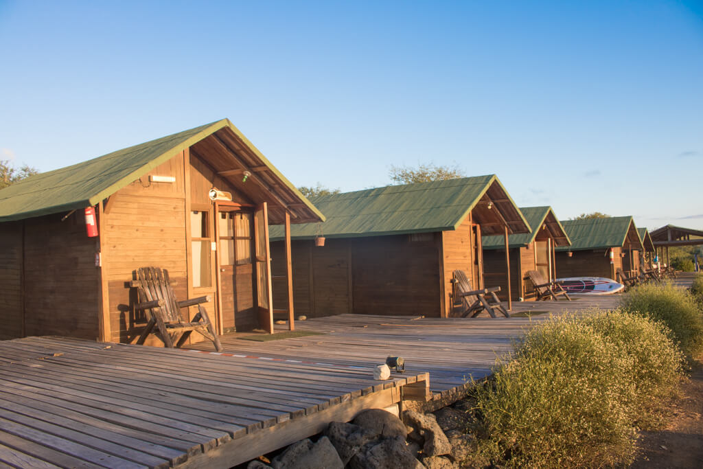 Floreana Lava Lodge in the Galapagos has cozy cabins right next to the ocean