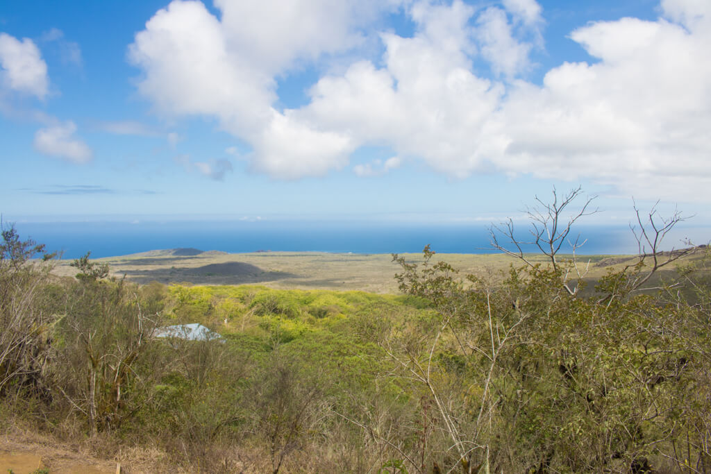 View of the ocean from Asilo de la Paz on Floreana Island in the Galapagos