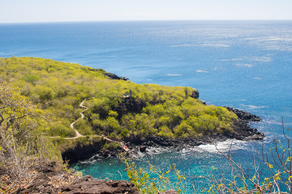 The view from FrigateBird Hill, also called Cerro Tijeretas on San Cristobal Island in the Galapagos