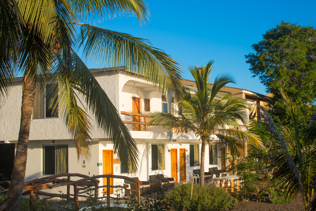 The Wittmer Lodge on Floreana island in the Galapagos is located right next to Black Beach