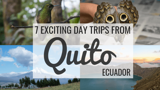 Learn about the best day trips from Quito, Ecuador. Hike up Cotopaxi Volcano, admire the sparkling blue waters of Quilotoa Lake, go souvenir shopping at Otavalo Market, relax in the hot springs of Papallacta, watch butterflies in Mindo, be amazed by hummingbirds at Bellavista Cloud Forest and stand on the equator at La Mitad del Mundo