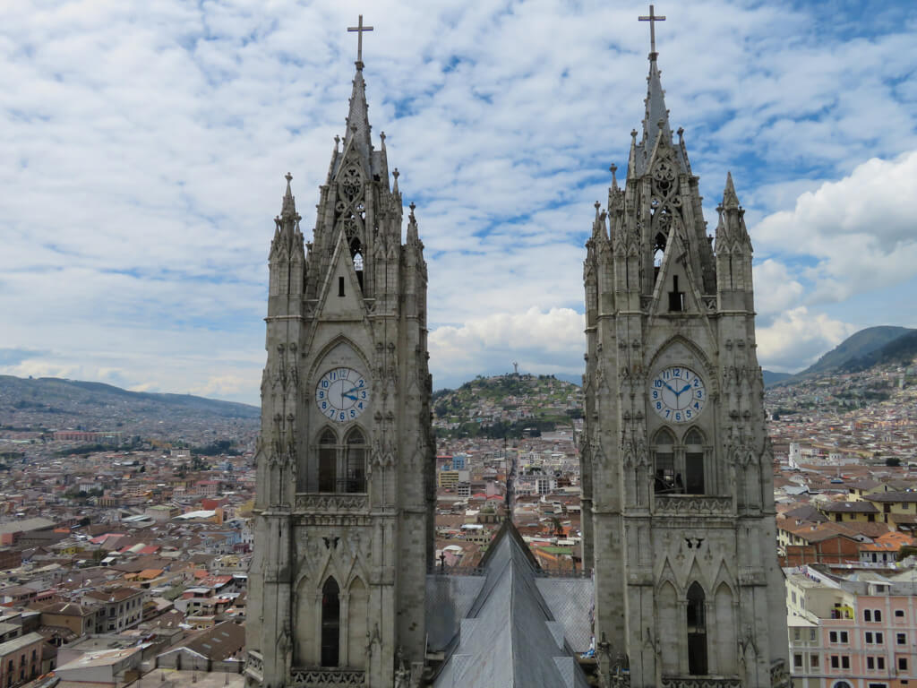 Basilica del Voto Nacional in Quito, Ecuador is one of the city's top attractions