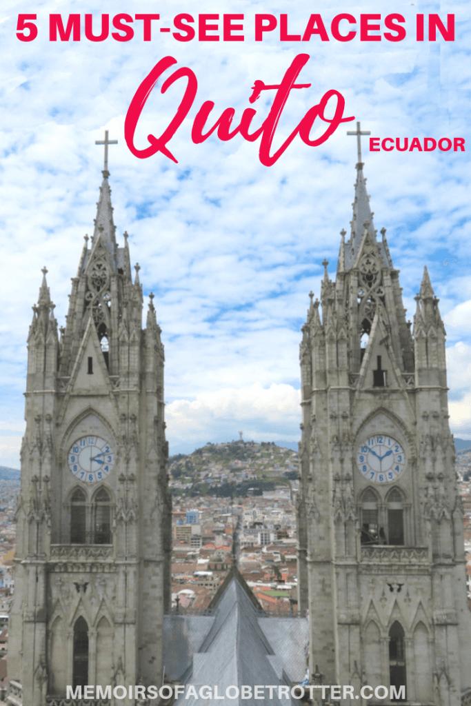 Quito, Ecuador is a UNESCO World Heritage Site. Discover impressive churches, amazing views, and interesting art.