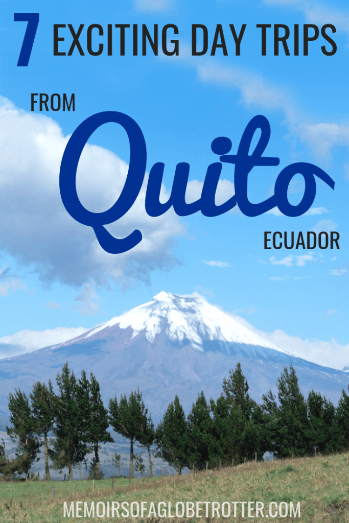 Immerse yourself in nature and discover Ecuadorian culture in these 7 exciting day trips from Quito! Cotopaxi National Park, Quilotoa Lake, La Mitad del Mundo, Mindo, Bellavista Cloud Forest, Otavalo Market and Las Termas de Papallacta all make excellent day trips from Quito.