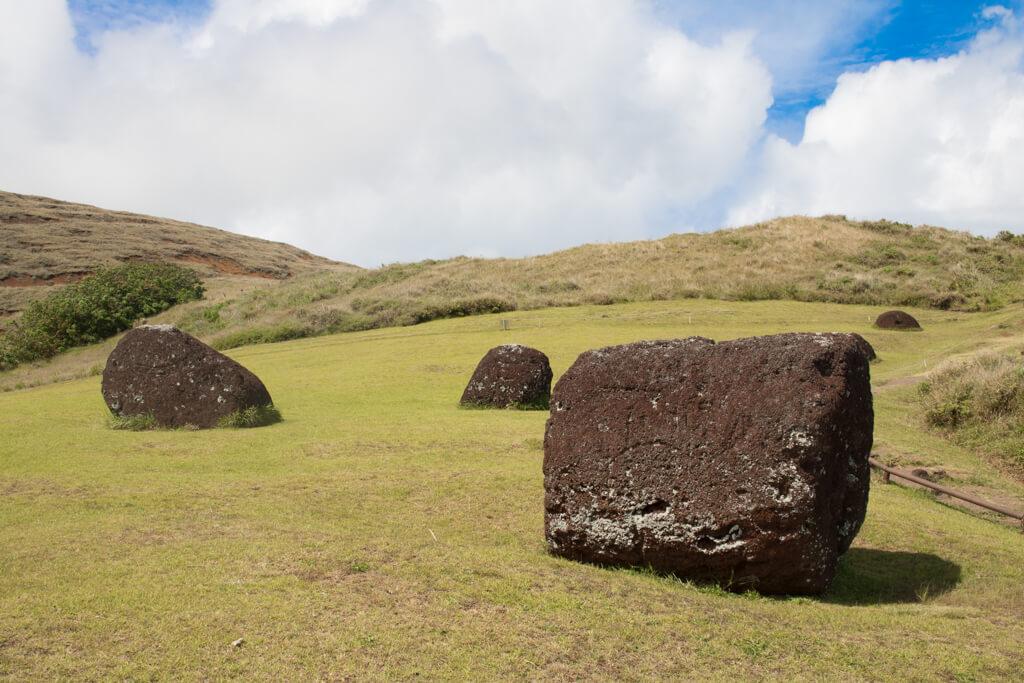 Puna Pau is the quarry where the topknots, or pukao, of moai were carved.
