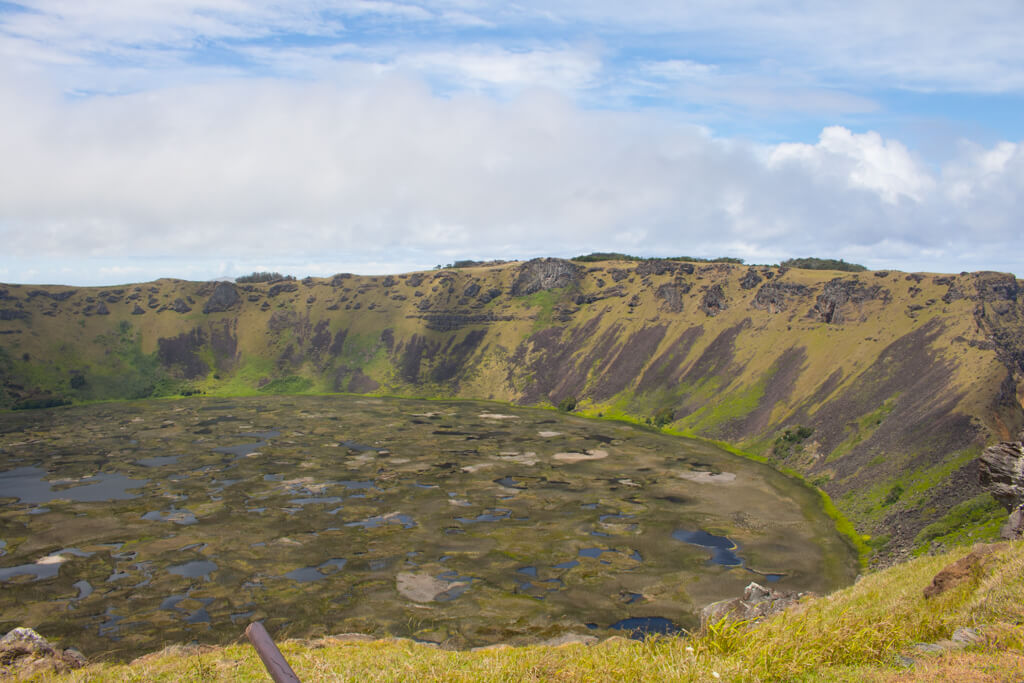 Rano Kau Lagoon on Easter Island
