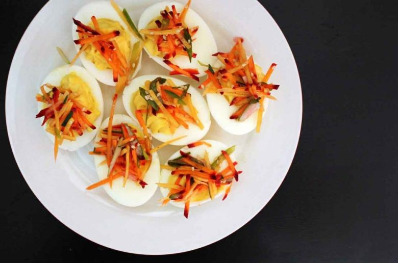 deviled eggs are shower party favorite