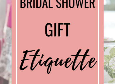 Bridal shower gift etiquette