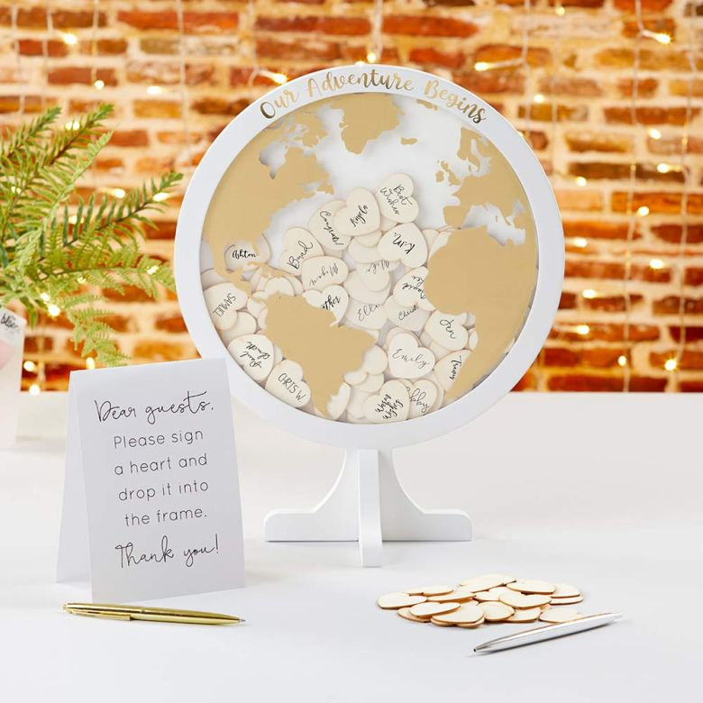 Our adventure begins alternative bridal shower guestbook
