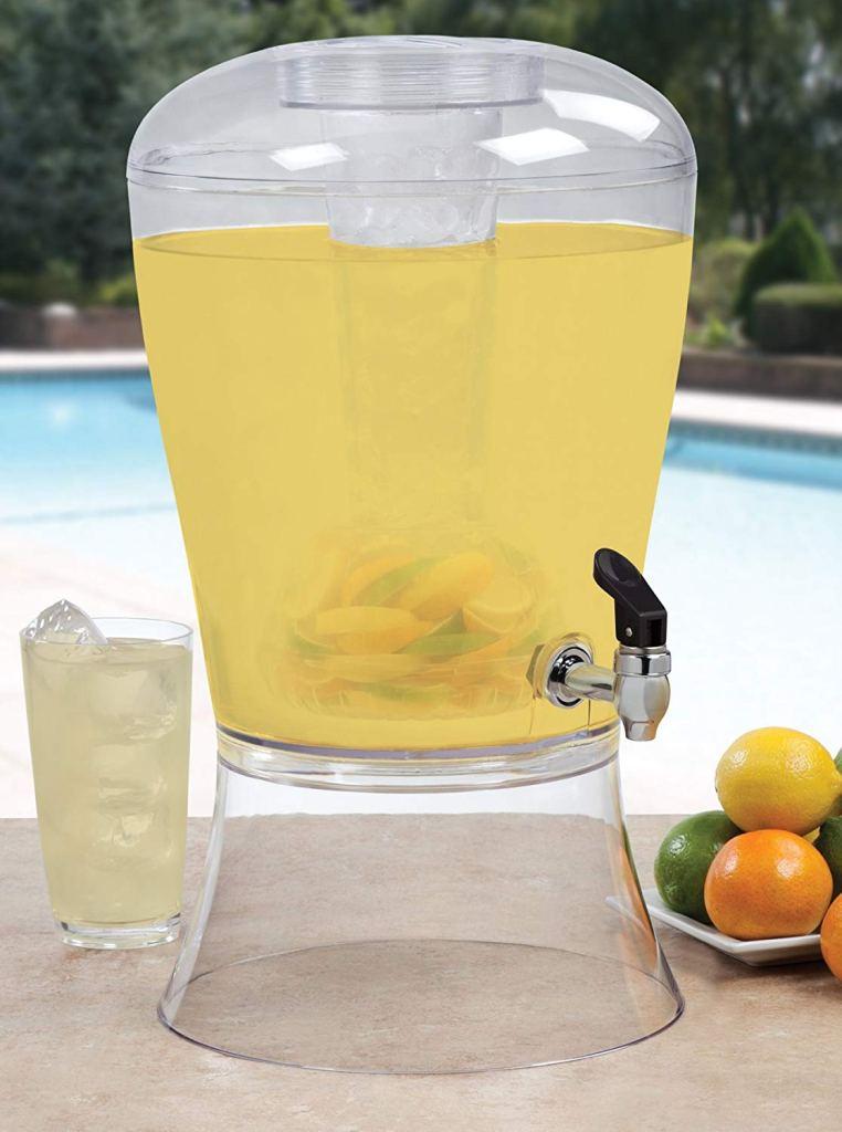 Beverage dispenser for peach prosecco bar