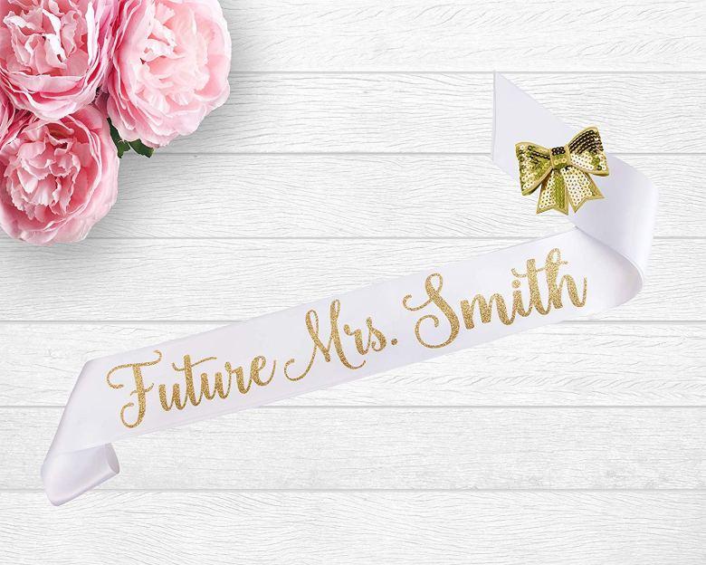 Personalized future Mrs. sash