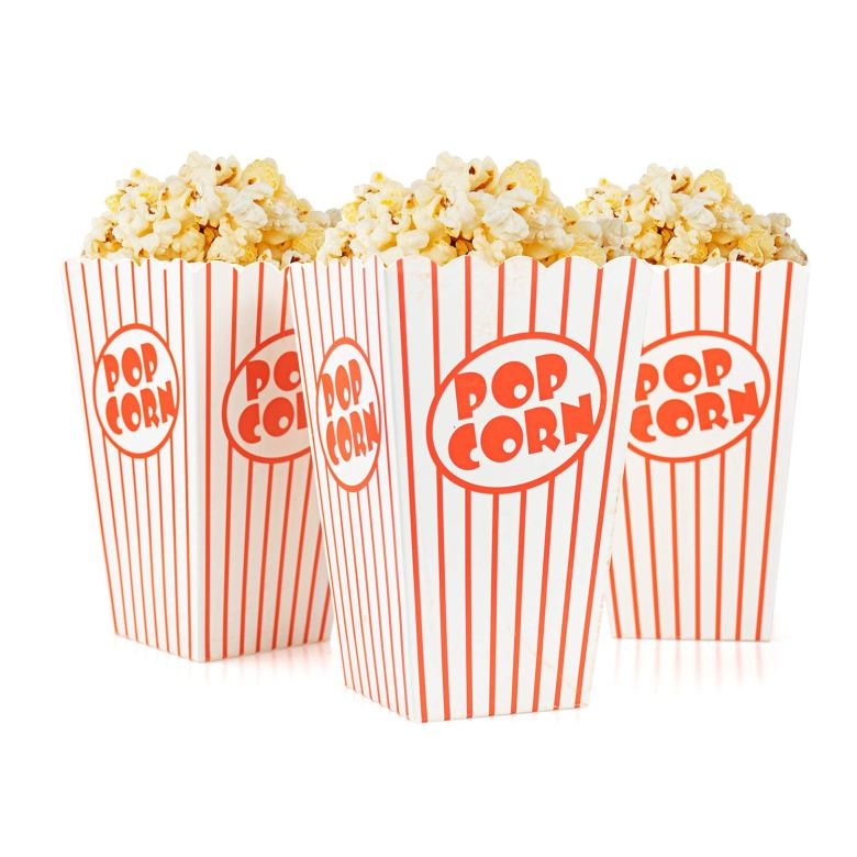 Popcorn boxes for popcorn bar