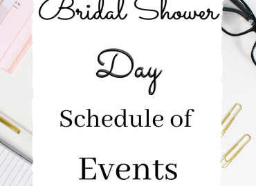 Bridal shower day schedule of events