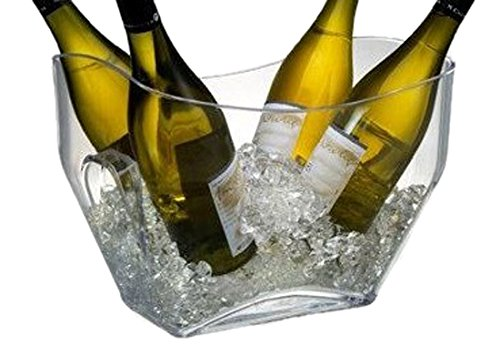 Ice bucket for keeping bubbly cold for mimosa bar