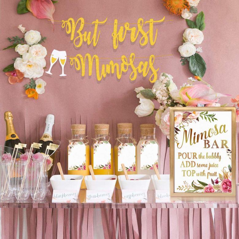 Mimosa bar decoration kit for bridal shower brunch