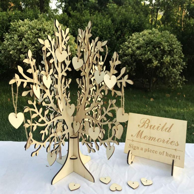 Sign a piece of heart bridal shower guestbook