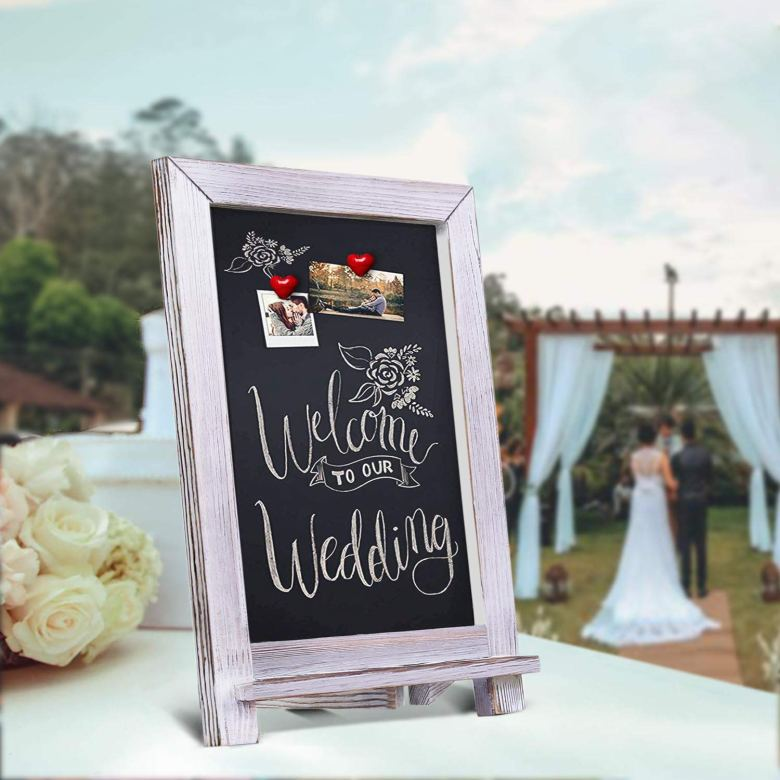 Rustic wedding shower welcome sign