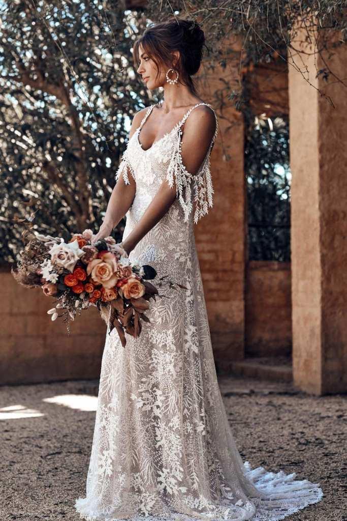 Sol bohemian bridal gown