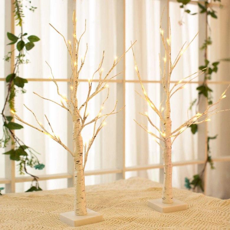 White Birch Tree Decorative Light