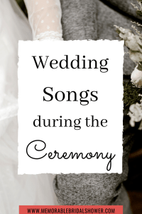 Wedding songs to play during the wedding ceremony
