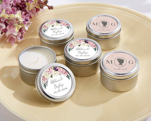 Wedding favors candles