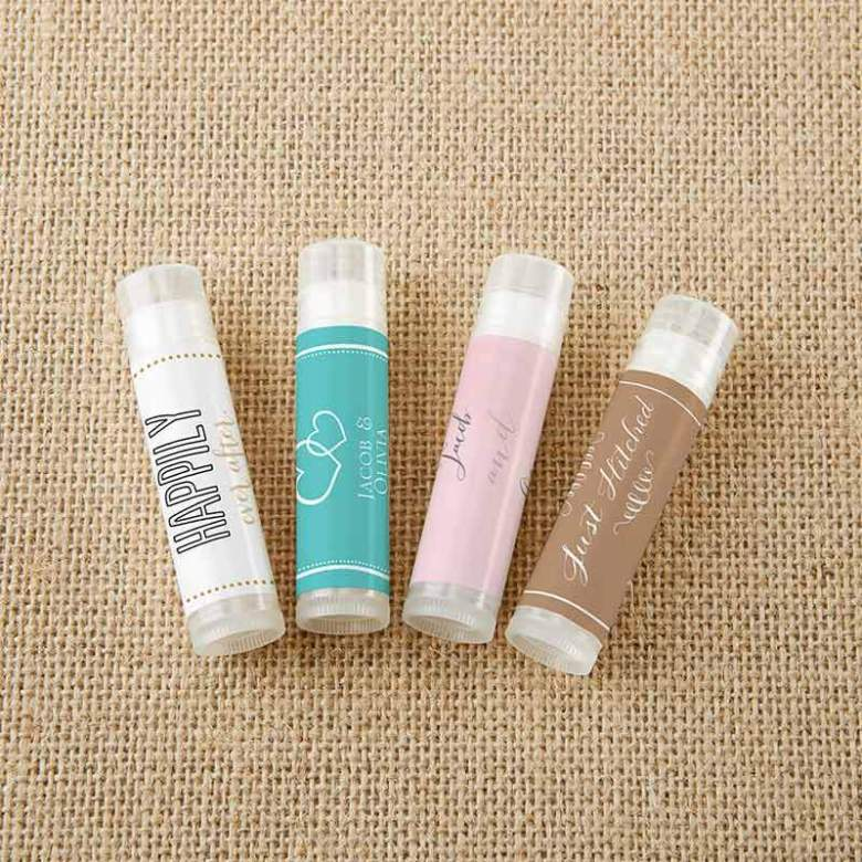 Lip balms are great wedding favours
