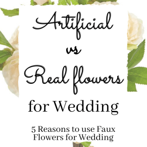 Artificial vs Real Flowers for Wedding