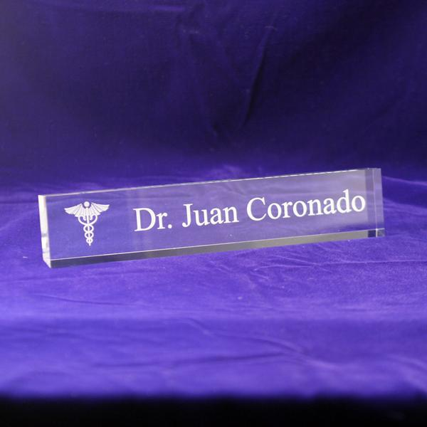 Medical Office Desk Nameplate Personalized Doctors Office Name