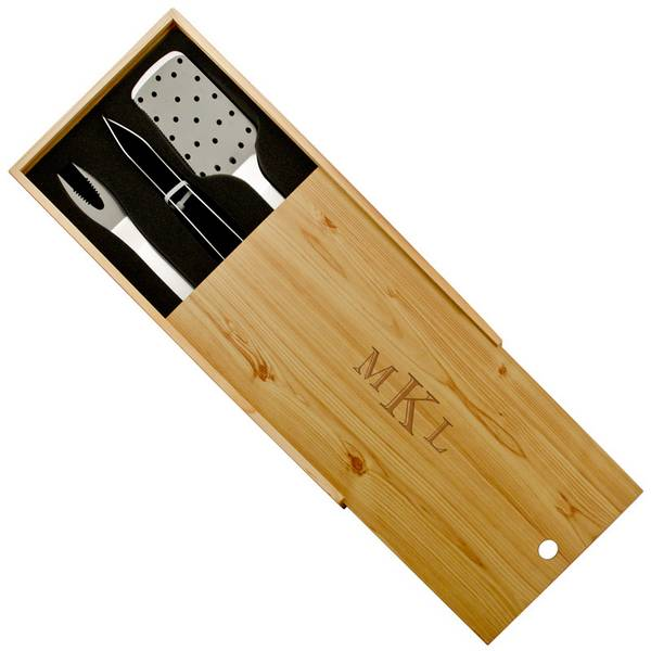 Personalized Monogrammed Barbecue Set