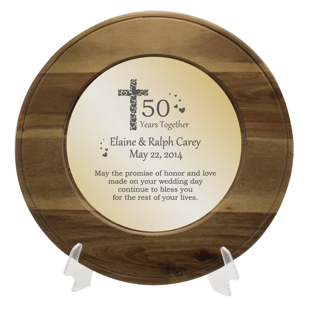 Faith And Love Personalized 50th Anniversary Plate