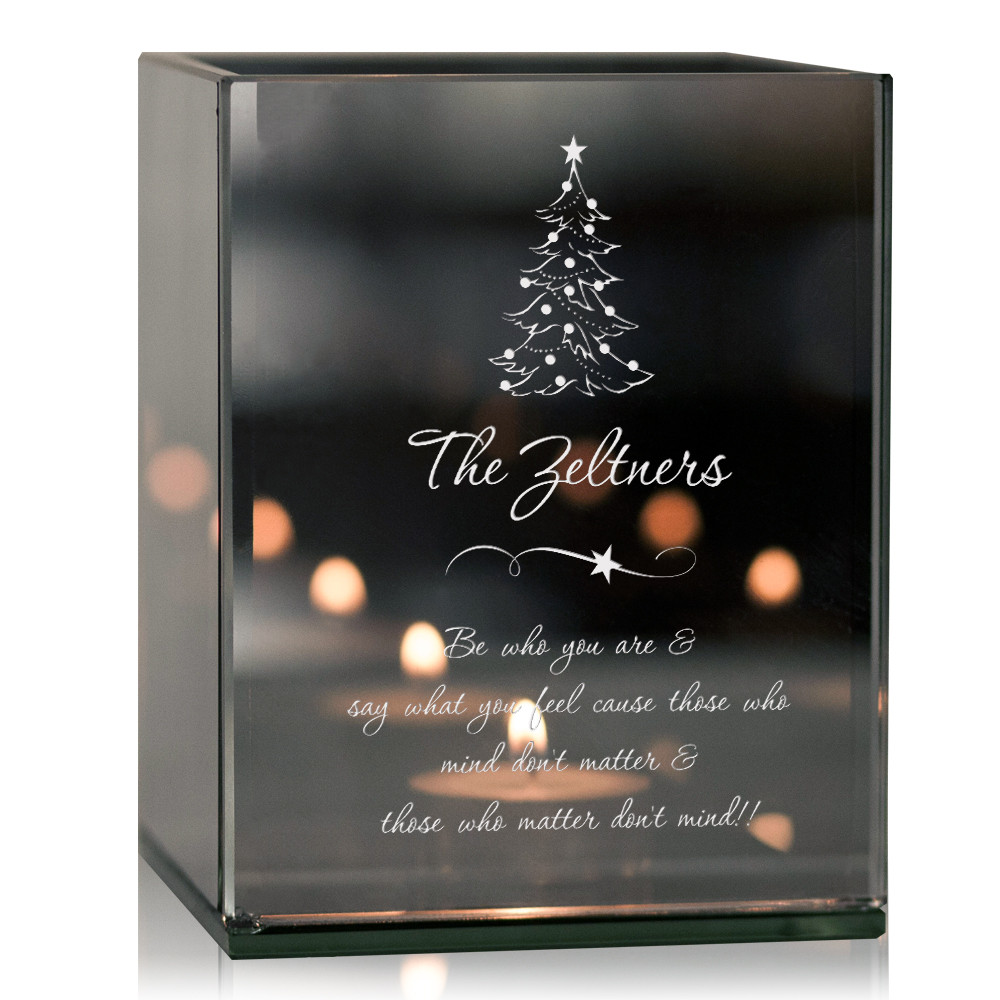 Personalized Christmas Memorial Remembrance Tea Light Candle