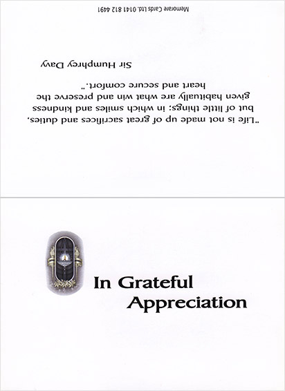 thank you cards bw 1
