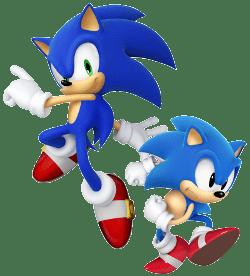 Sonic moderno e clássico