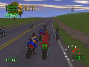 Road Rash 64 - lutas entre motoqueiros