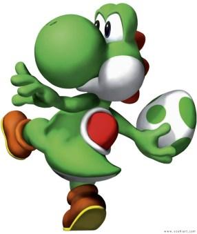 Yoshi atirando ovo