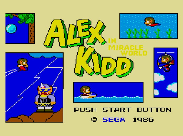 Alex Kidd in Miracle World - tela título