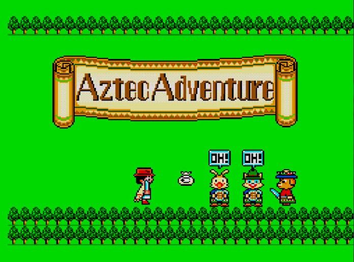 Aztec Adventure tela título